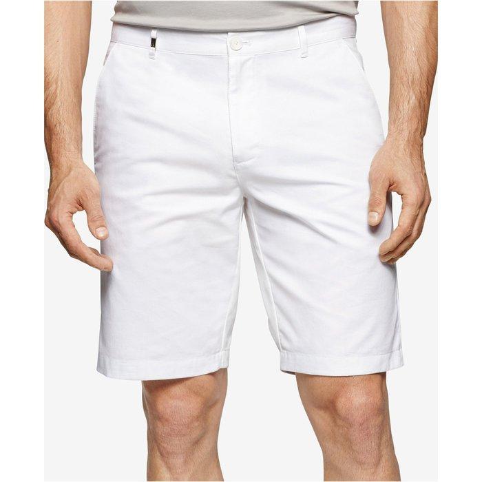 美國百分百【全新真品】Calvin Klein 短褲 CK 休閒褲 百慕達褲 9吋 燈芯絨 白色 33腰 H121
