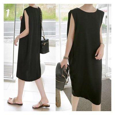 ♥黑色時尚~無袖連身裙【kr7185】