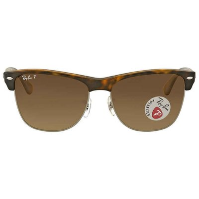 Ray Ban Clubmaster Oversized Polarized Brown Gradient  RB4175 878/M2男太陽眼鏡