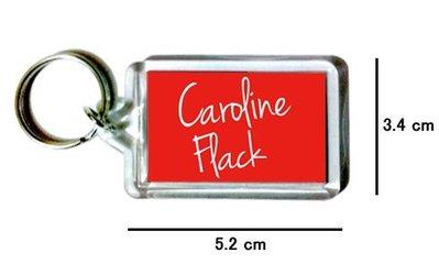 〈可來圖訂做-鑰匙圈〉Caroline Flack 壓克力雙面鑰匙圈 (可當吊飾)