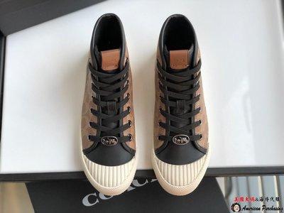 美國大媽代購COACH 寇馳 2019新款品牌獨特潮流 小怪獸中筒休閒鞋 原裝正品 美國代購