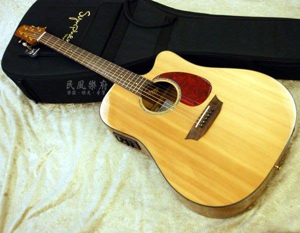 《民風樂府》Sympher  Stager DM-E FISHMAN EQ 精選桃花心木 表演用 單板電木吉他