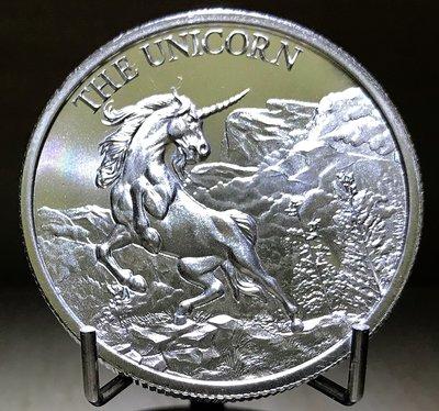 «自由銀» The Unicorn 高浮雕款-獨角獸銀幣 (2 toz=62.2g)