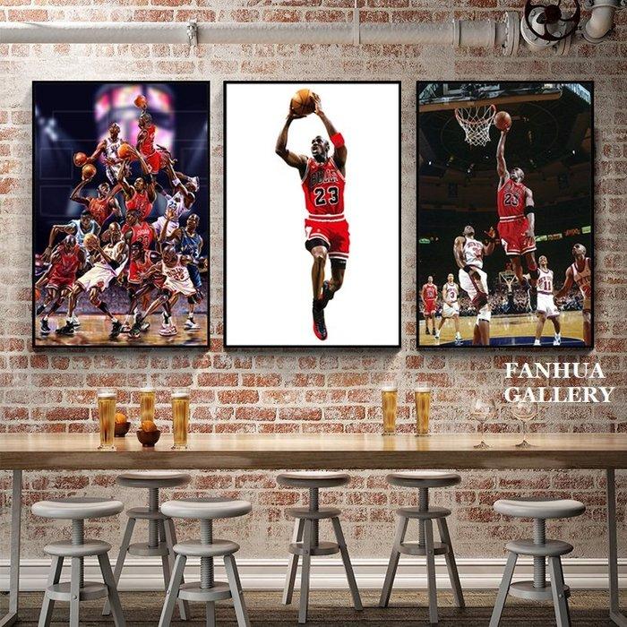 C - R - A - Z - Y - T - O - W - N NBA喬丹裝飾畫籃球明星傳奇人物JORDAN掛畫