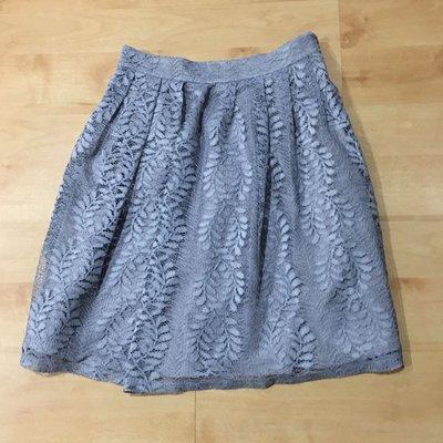 復古蕾絲百褶裙(長度51公分、腰寬68公分)