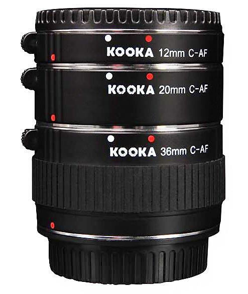 呈現攝影-KOOKA KK-C68 近攝接環組 銅金屬接口 自動對焦接寫環組 Canon EF/ EFs都適用 12/20/36mm
