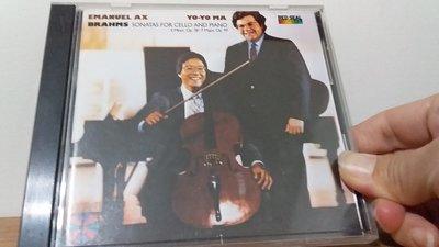 [文福影音館] 二手CD~YO-YO MA/EMANUEL AX~1985年發行~無ifpi~MADE IN JAPAN