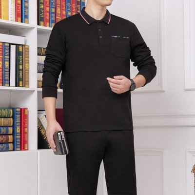 男防風外套夾克風衣2020春秋季新款可定制LOGO中老年運動套裝休閑爸爸運動服兩件套裝