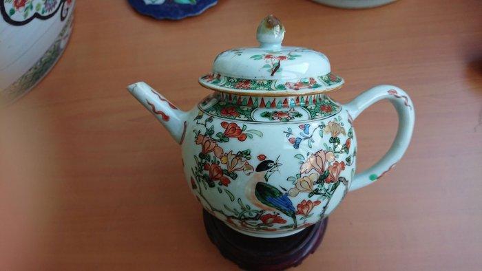 康熙 五彩 鎏金 大瓷壺