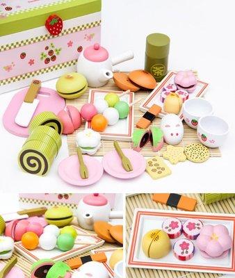 【晴晴百寶盒】木製日式抹茶下午茶套組 家家酒 角色扮演 親子早教 益智遊戲玩具 平價促銷 禮物 P096