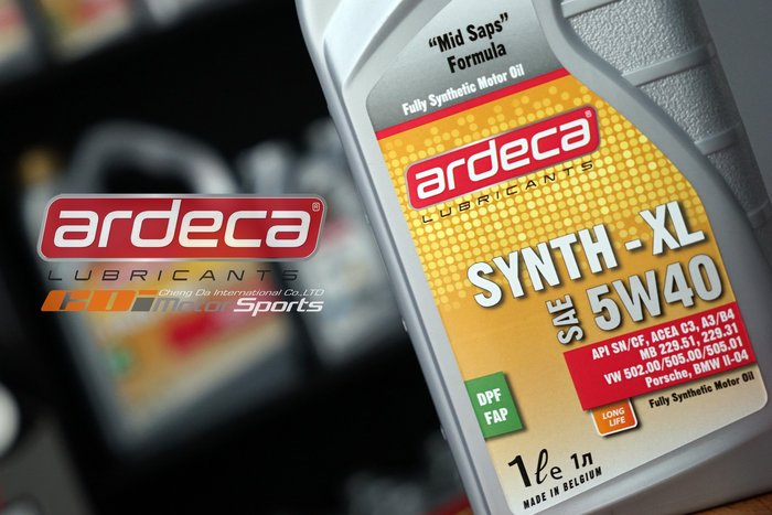 Ardeca Lubricants SYNTH-XL 5W-40 全合成機油 酯類 高性能.一般車款適用 / 制動改