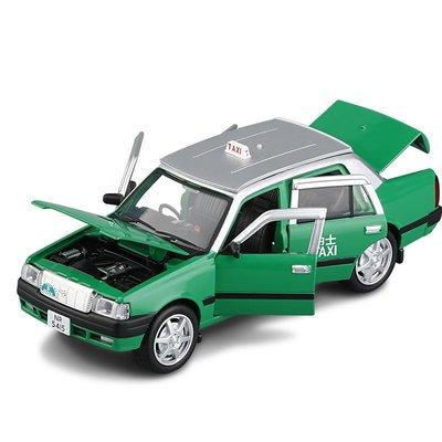 胖松鼠香港的士1/32豐田皇冠出租車六開門聲光回力合金車模男孩金屬玩具