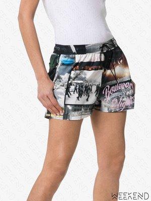 【WEEKEND】 ADAPTATION 相片印圖 鬆緊褲頭 休閒 短褲 熱褲