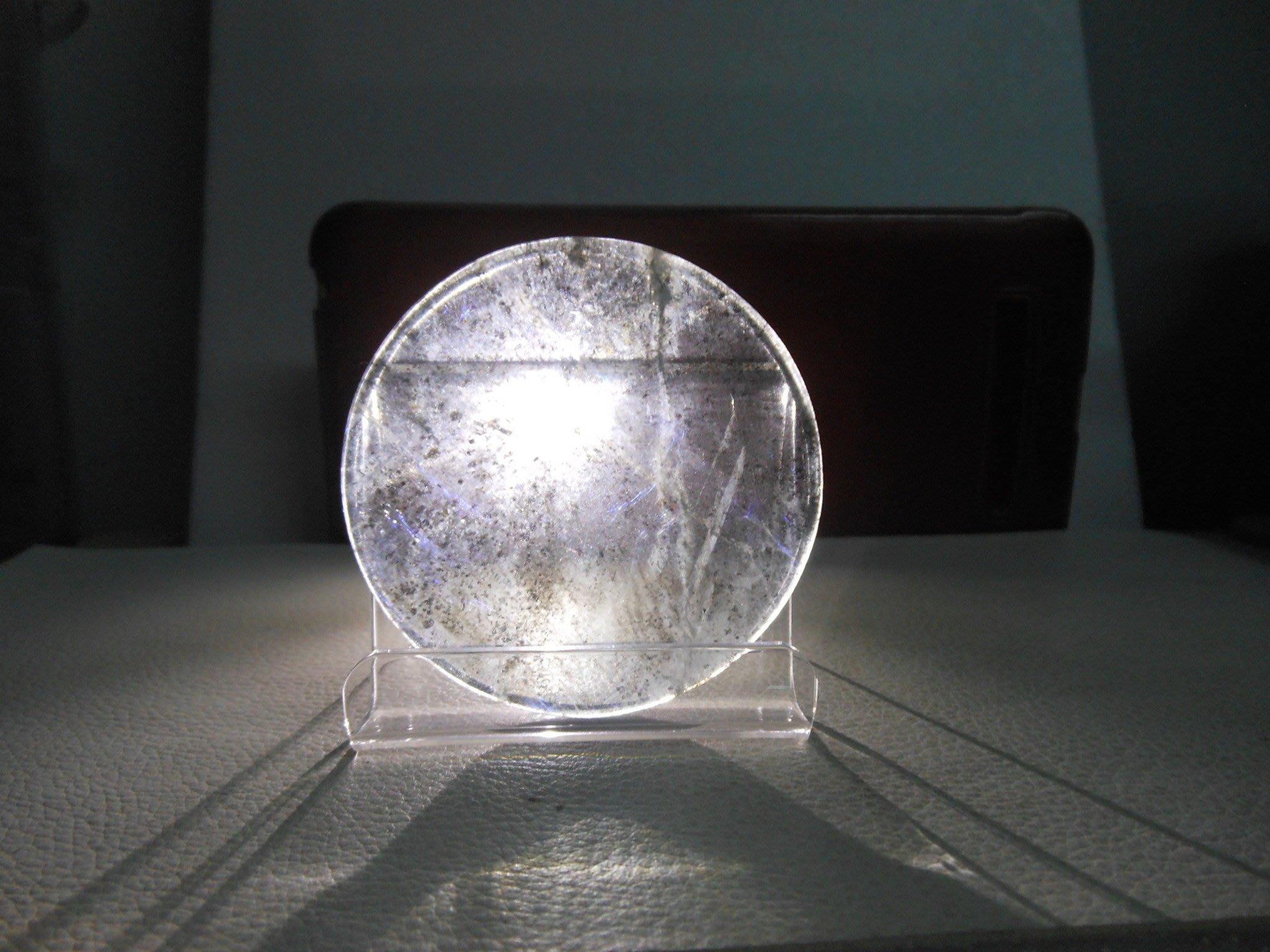 珍稀-52.5mm海藍寶石-海水藍寶石圓盤大裸石-全透光超清澈款-B