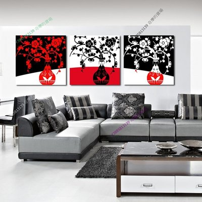 【50*50cm】【厚1.2cm】抽象花瓶-無框畫裝飾畫版畫客廳簡約家居餐廳臥室牆壁【280101_266】(1套價格)