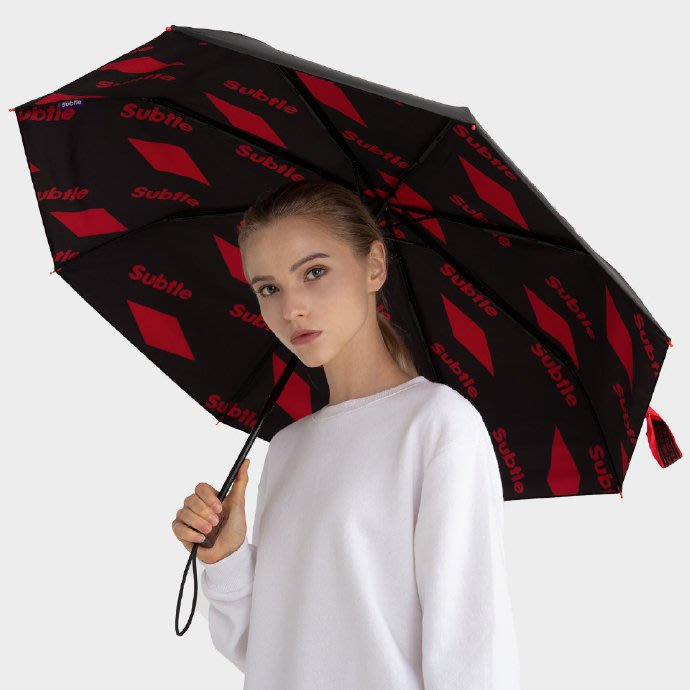 Subtle晴雨兩用傘19年最新款~573系列01方塊紅 附同花色防水傘袋 抗UV50+阻擋99.9%紫外線