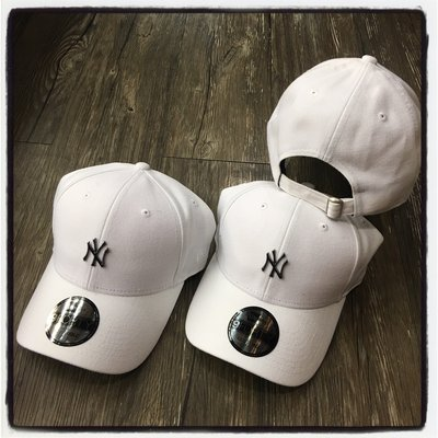 【Dangerous】NEW ERA MLB 紐約洋基 NY 白底 鐵牌 小LOGO 9FORTY 彎帽 老帽 日字扣