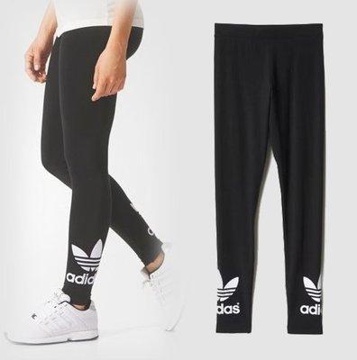 Adidas Originals leggibg 愛迪達 三葉草 內搭褲 緊身褲 瑜伽褲 大Logo九分褲 AJ8153