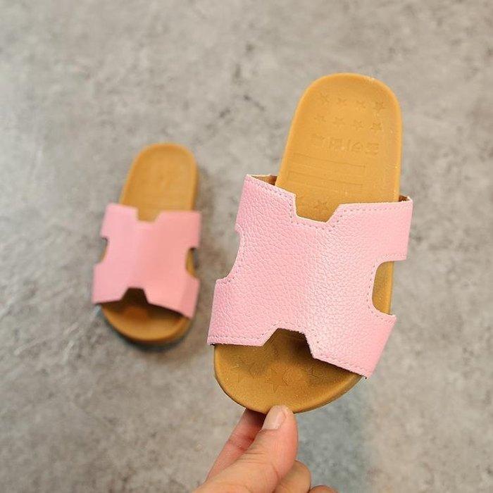 夏季兒童鞋女童韓版涼拖公主拖鞋時尚家居家一字拖休閒親子拖ஐ風行購物街ஐ
