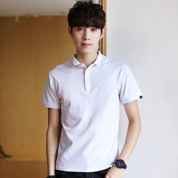 型男必備款 男生上衣 純色Polo衫 短袖 有領短袖 polo衫 素色 襯衫【MT49】