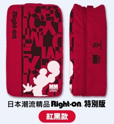 7-11 迪士尼系列 盛夏運動趣 日本潮流精品Right-on特別版 立體鞋袋收納包 (紅黑款)