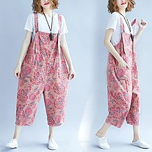 ♡ 右米衣飾 ♡ 日系 文藝 中大尺碼 休閒顯瘦吊帶褲