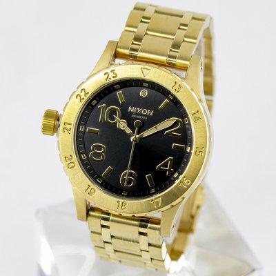 NIXON 尼克森 A410-2042 A4102042 手錶 38mm 黑面盤 金色金錶 金鋼錶帶 女錶