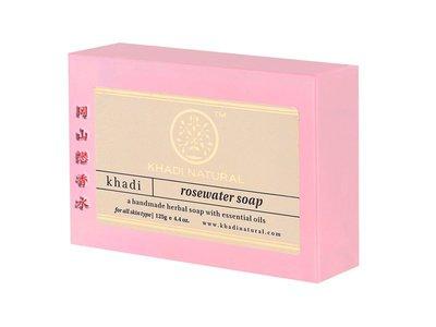 岡山戀香水~印度 Khadi 草本玫瑰水手工精油香皂125g~優惠價:55元