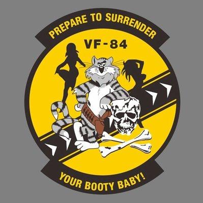 美國海軍第84戰鬥機中隊 海盜旗 湯姆貓 VF-84 TOMCAT Prepare To Surrender 貼紙