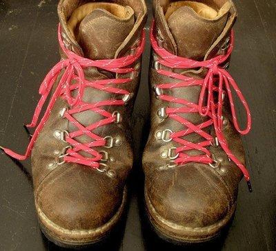 BUSH SMARTS 美國紐約設計 日本製造 Rugged Vintage 工作靴 登山鞋帶 紅 反光 GO OUT