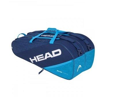 【曼森體育】HEAD Elite Supercombi 9支裝 球拍袋 藍 網球拍袋