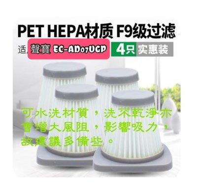 現貨 速發 for 聲寶sampo  吸塵器 HEPA 濾網 EC-AD07UGP 濾心 過濾網 濾棉