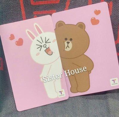 Line Friends Cony & Brown T Money 韓國交通卡 (一套兩張)