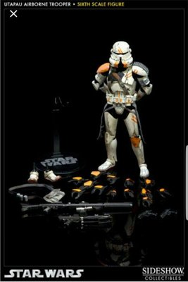 Sideshow Star Wars 星球大戰 212th Attack Battalion Utapau Airborne Trooper 1/6 白兵