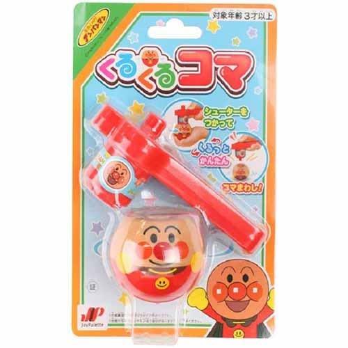 【東京速購】 日本 麵包超人 造型按壓式 旋轉陀螺玩具