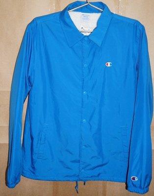 champion COACH JACKET 日版 藍色M號 內絨毛 教練外套