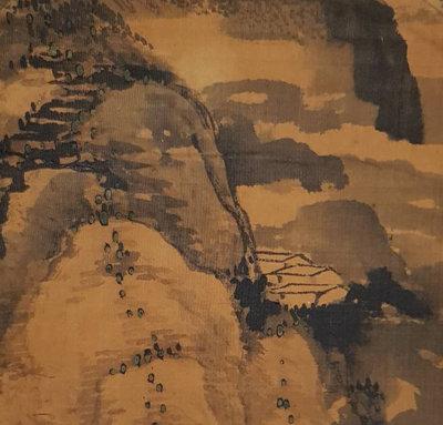 鳳崗文創---{繪畫325}------佐竹藍川---畫心尺寸約28*42cm