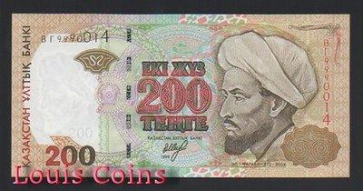 【Louis Coins】B634-KAZAKHSTAN--1999哈薩克斯坦紙幣200 Tenge