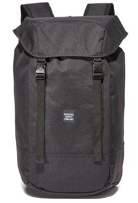 Hsin 現貨 Herschel Iona Aspect 網狀 黑色 全黑 帆布 後掀 筆電夾層 大容量 旅行 後背包