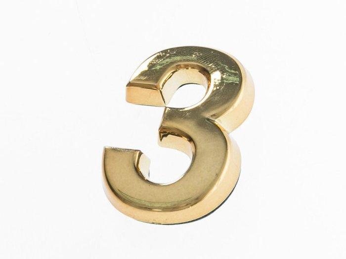 【幸福2次方】3D立體電鍍數字貼 - 金色7cm - 0~9可選