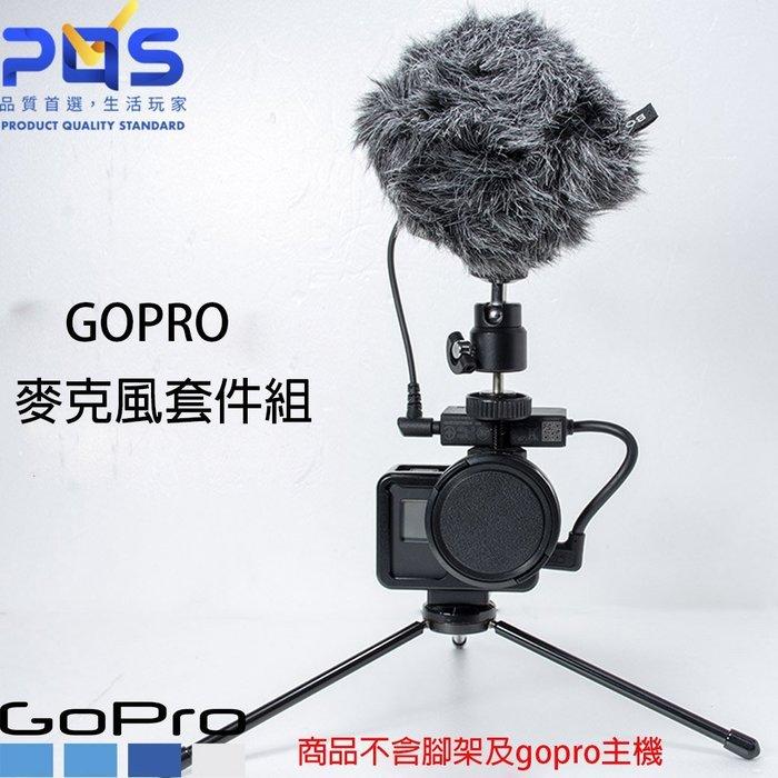 GoPro vlog AAMIC-001 專業級3.5MM麥克風接頭套件組 (公司貨)  台南 PQS 免運