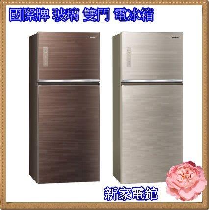 *~新家電錧~*【Panasonic國際牌 NR-B429TG】422公升 玻璃 雙門 電冰箱 【公司貨】