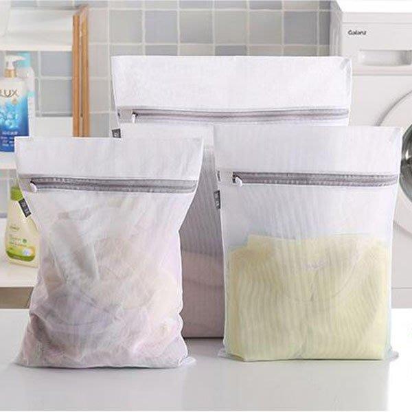 灰白簡約防變形網狀密孔型洗衣袋(中號)【JI2315】《Jami Honey》