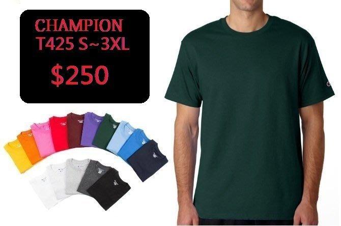 【HOMIEZ】美國 冠軍 CHAMPION SHORT 【T425】 高磅 高質感 素T 素TEE S~3XL
