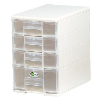 樹德收納 B5-PC13 魔法收納力玲瓏盒 4層收納盒 抽屜收納盒 桌上型收納盒 TOMICA  白色
