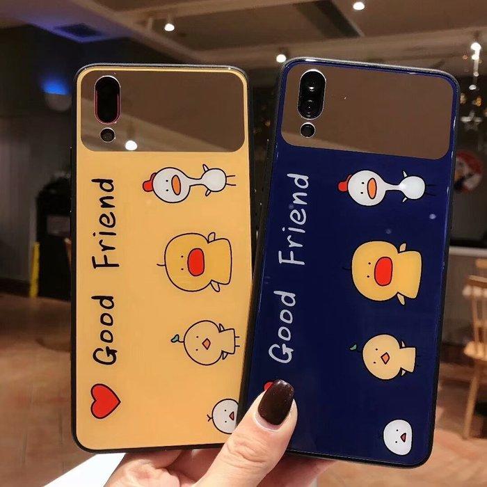 爆款熱賣-可愛小動物華為P20手機殼P10鏡子玻璃殼mate20X全包mate10pro防摔