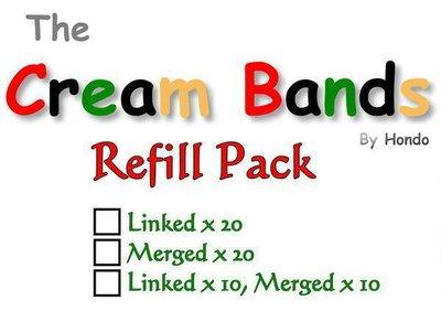 【意凡魔術小舖】The Cream Bands ~ 奶油橡皮筋 ~ 道具橡皮筋20入 ~ 補充包