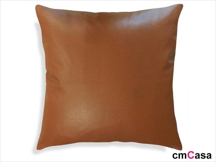 = cmCasa = [2529]低調奢華精典設計 素面皮革抱枕套 大器新發行