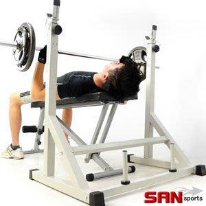 【推薦+】SAN SPORTS專業舉重架C080-6006深蹲架.啞鈴架槓鈴架.舉重床架.推架臥舉重器材