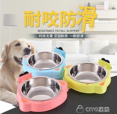貓籠狗籠掛碗固定掛架不銹鋼狗碗寵物掛碗籠式喂食器